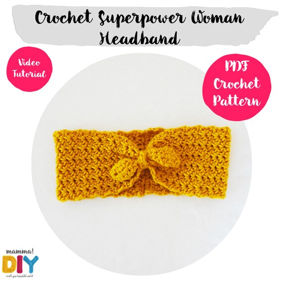 Pack Headbands Crochet Patterns English Version all sizes | Etsy