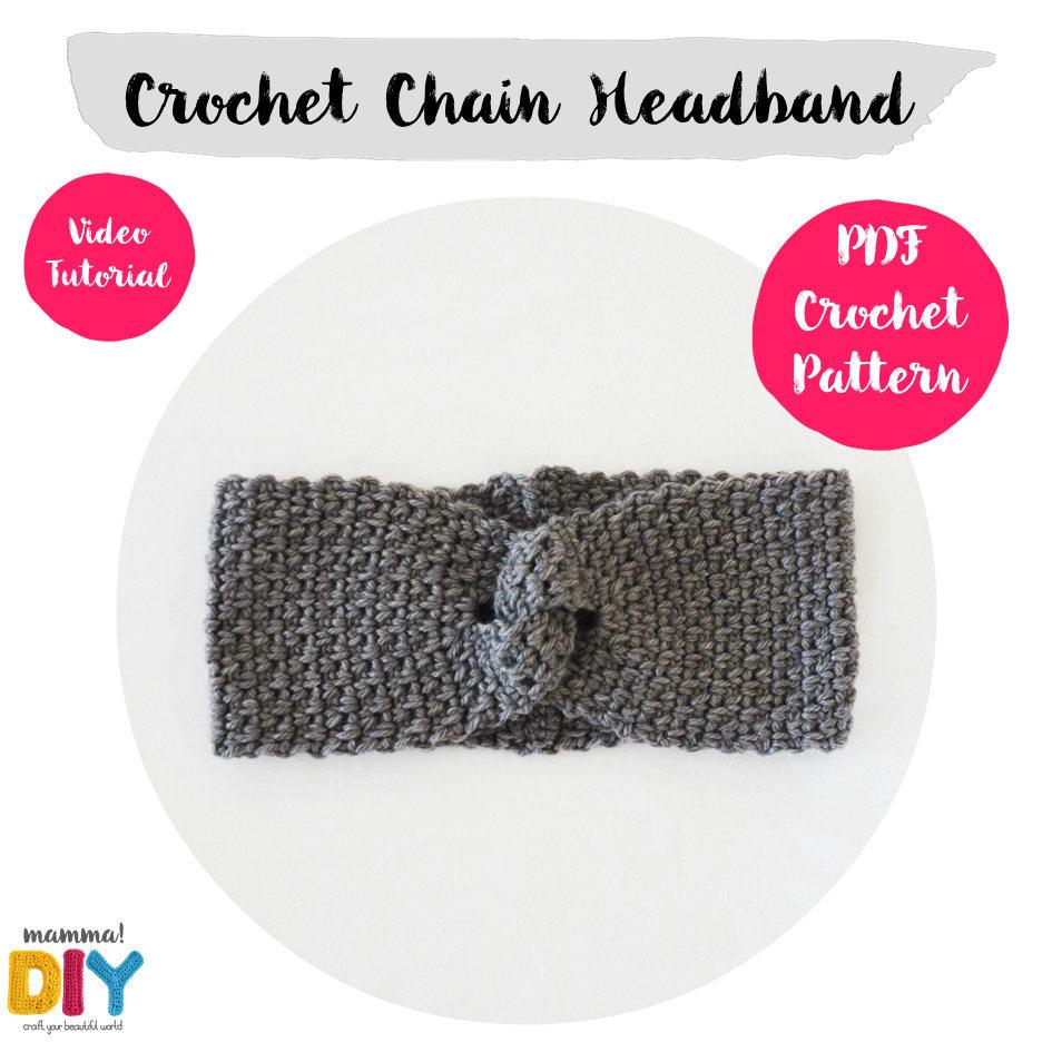 Chain Headband Crochet Pattern Video Tutorial Easy Ear Etsy