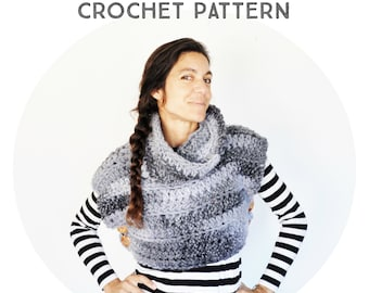 The Super Chunky Vest Crochet Pattern, phototutorial step by step, for beginners, tutorial, boho poncho, boho vest, wood button, alpaca yarn