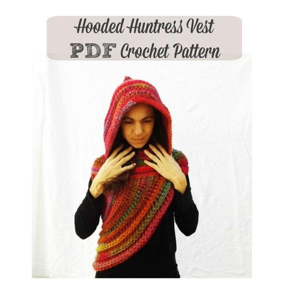 Artículos similares a Patron Crochet Tutorial Chaleco Asimetrico con ...