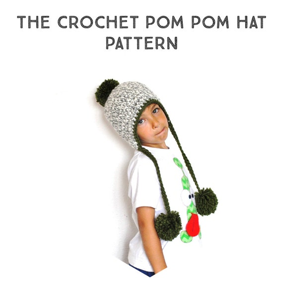The Crochet Pom Pom Peruvian Hat Pattern crochet pattern | Etsy