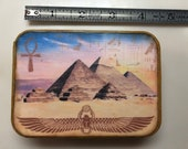 Old Egyptian altered tin