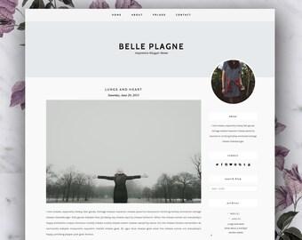 SALE Responsive Premade Blogger Template - Belle Plagne