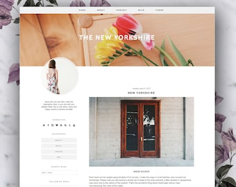 Premade Blogger Template - The New Yorkshire