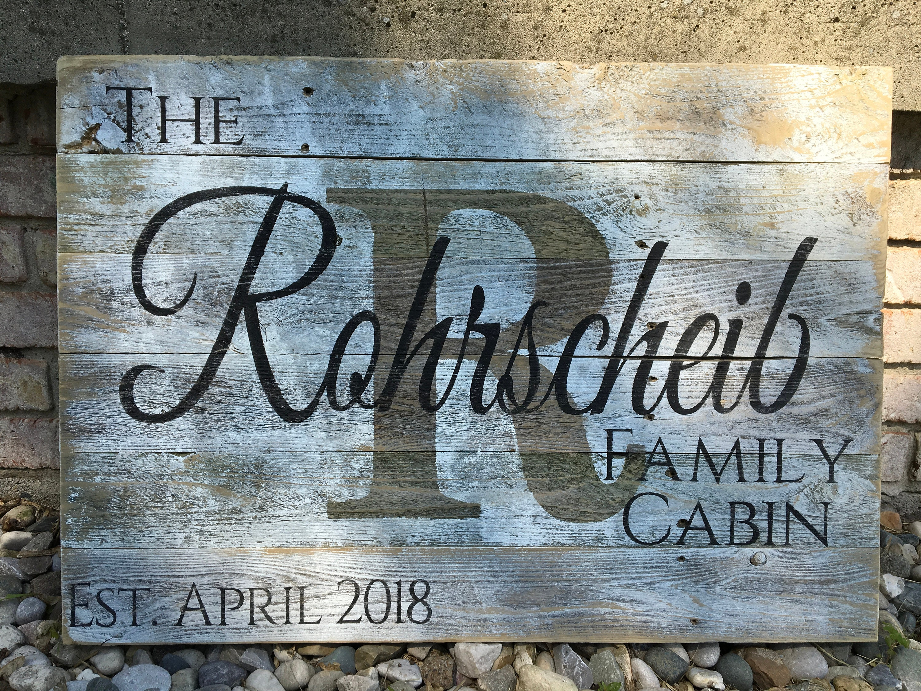 Large Custom Wood Name Sign Last Name Sign Rustic Family | Etsy