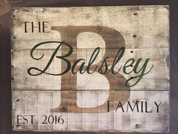 Custom Wood Name Sign Personalized Wedding Gift Pallet
