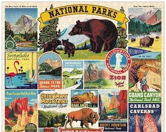National Parks Puzzle   1000 Piece Puzzle   USA Parks Puzzle   Jigsaw Puzzle   Art Puzzle   Puzzle for Adults   1000 Pieces Puzzle Box  Zion