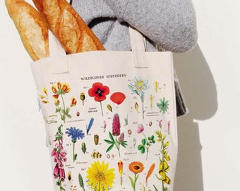 c4c8dfc44 Wildflowers Tote Bag | Floral Totebag | Floral Print Vintage | Wildflowers  Bag | Canvas Tote Bag | Reusable Bag | Floral Fabric | Tote
