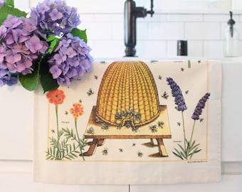Bee Kitchen Towel   Bee Towel   Bees Tea Towel   Bee Flour Sack Towel   Bees Honey Towel   Bee Lover   Gift for Cook   Bee Gift   Beekeeper