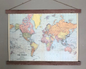 World Map Poster   World Map Art   World Map   World Map Print   Map of the World   World Map Wall Art   World Map Decor   Map Print   1960