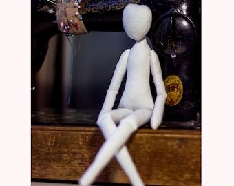 """Cloth Doll body 14"""", Soft Doll body, blank rag doll, ragdoll body,soft doll.the body of the doll made of cloth"""