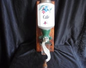 French vintage wall coffee grinder coffee grinder 1930 coffee beans french old farm