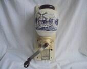 vintage wall coffee grinder coffee grinder 1950 coffee beans grinder wall mill delft blue scene