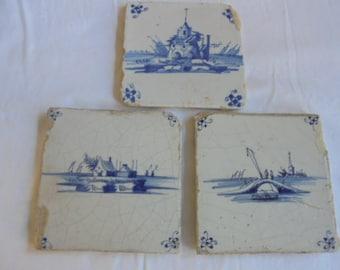 Delfts Blauwe Tegels : Oud delft pottery etsy