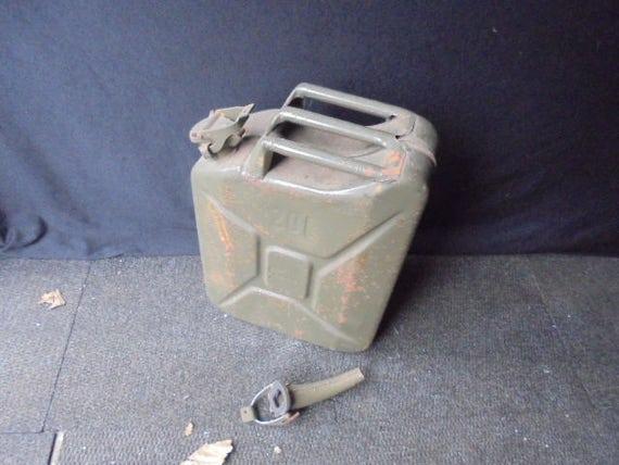 militärische Vintage Benzinkanister 20 LiterArmee Kanister mit s TrichterÖl kann