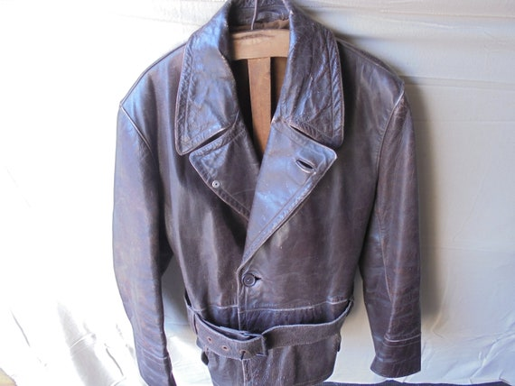 midcentury motorcycle jacket from the 60s / leathe