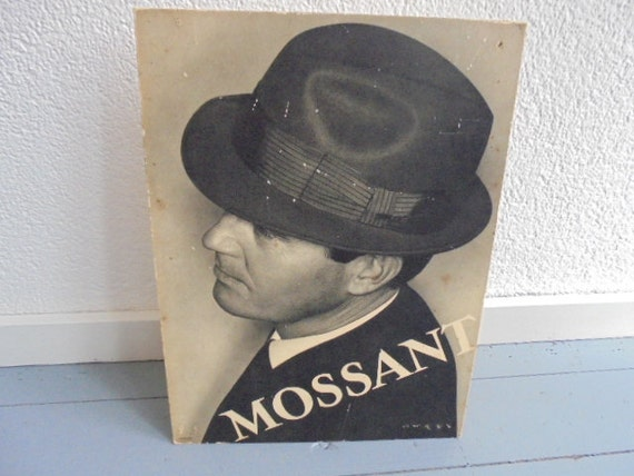 French vintage fashion plate of mossant hats Parisian Hat 6ce99fd5e66