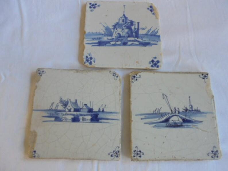 Delfts Blauwe Tegels : Antiek delft blauw tegels ca e eeuw nederlandse wand etsy