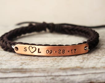 Diy leather bracelet with name