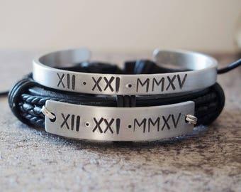 Personalized Couples Bracelets Etsy