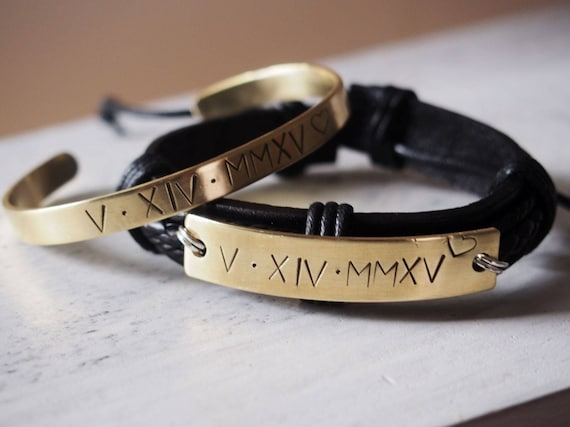 Engraved Couples Bracelet Matching Couple Bracelets Etsy