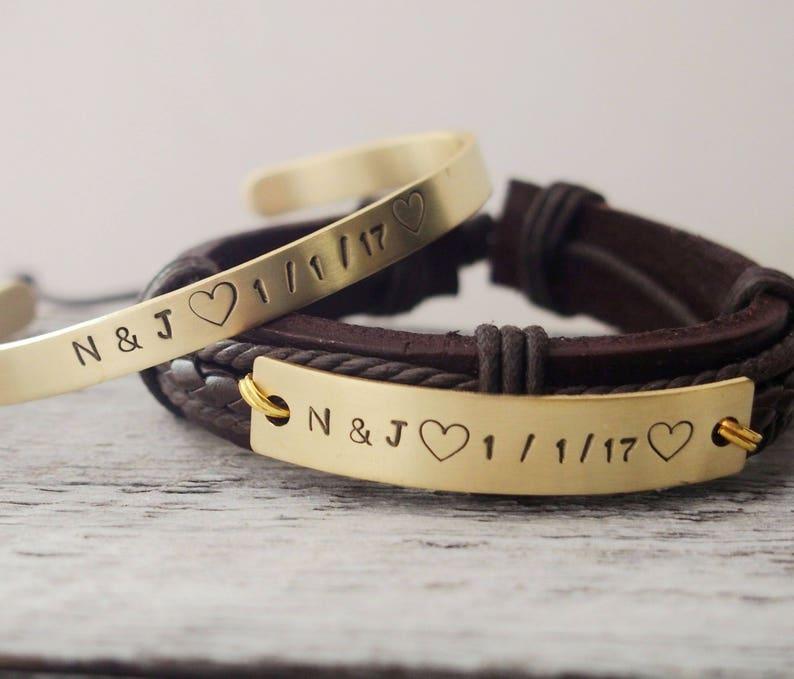 fa9150bfb Personalized couple bracelet custom couples bracelet | Etsy