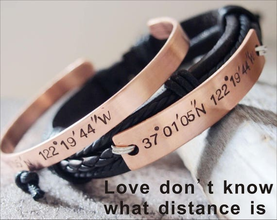 Matching Couple Bracelets Personalized Couples Bracelet Etsy