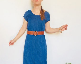 08b5ce17b9 Denim maxi dress vintage denim dress Long denim dress jean 90s denim dress  vintage jean dress vintage maxi dress size M maxi m jean dress
