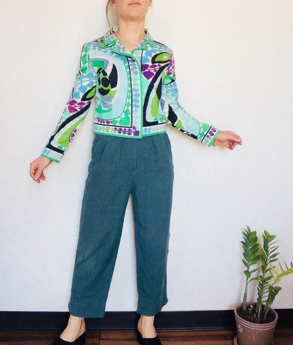 Vintage Emilio Pucci jacket Pucci Cropped jacket … - image 3