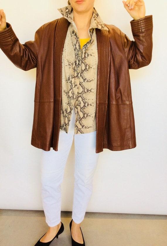 Vintage leather kimono jacket quilted kimono jacke