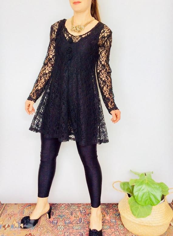 90s Black dress black mini dress little black dres
