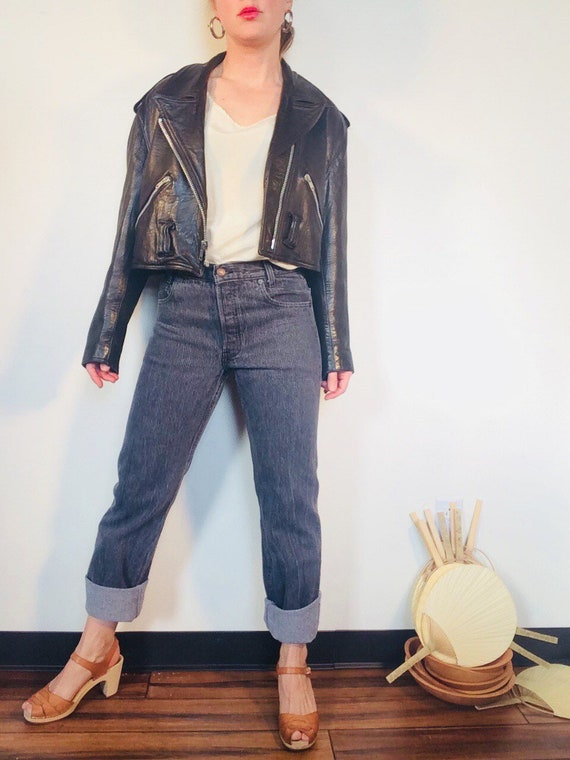 Cropped motorcycle jacket Vintage motorcycle jacke