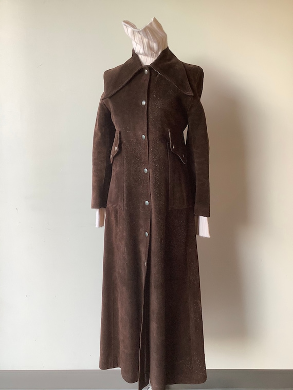 Small Vintage leather coat long leather coat women