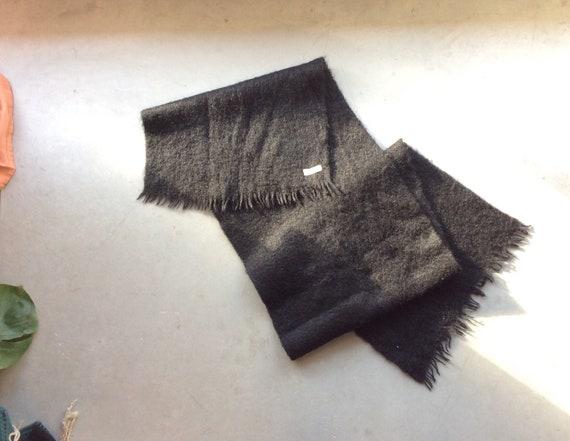 Black mohair scarf vintage mohair scarf vintage wo