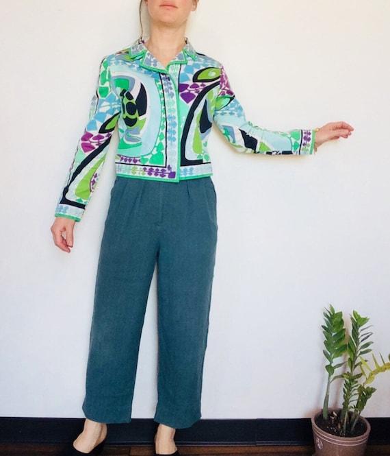 Vintage Emilio Pucci jacket Pucci Cropped jacket … - image 2