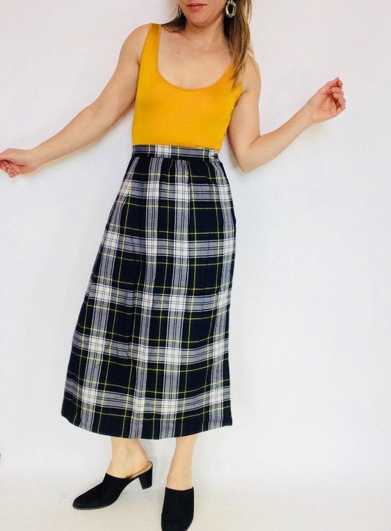 ac1e397abd2187 Vintage en laine à carreaux jupe plissée jupe jupe à carreaux écossais maxi  jupe vintage en laine jupe jupe longue à carreaux laine longue jupe ...