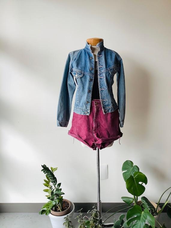 Vintage denim jacket womens jean jacket vintage je