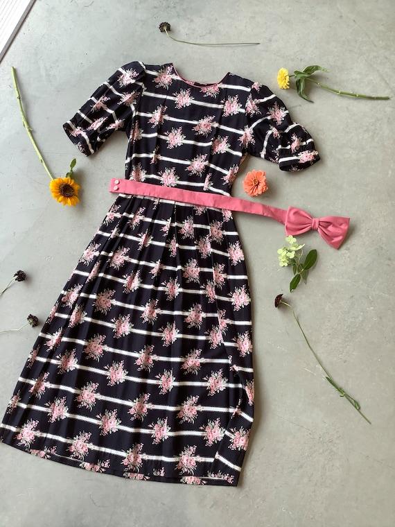 Vintage Lanz dress puff sleeve Lanz dress floral d