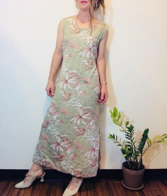 Linen maxi dress floral linen dress floral maxi dr
