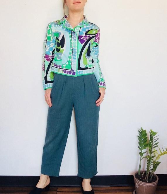 Vintage Emilio Pucci jacket Pucci Cropped jacket … - image 5