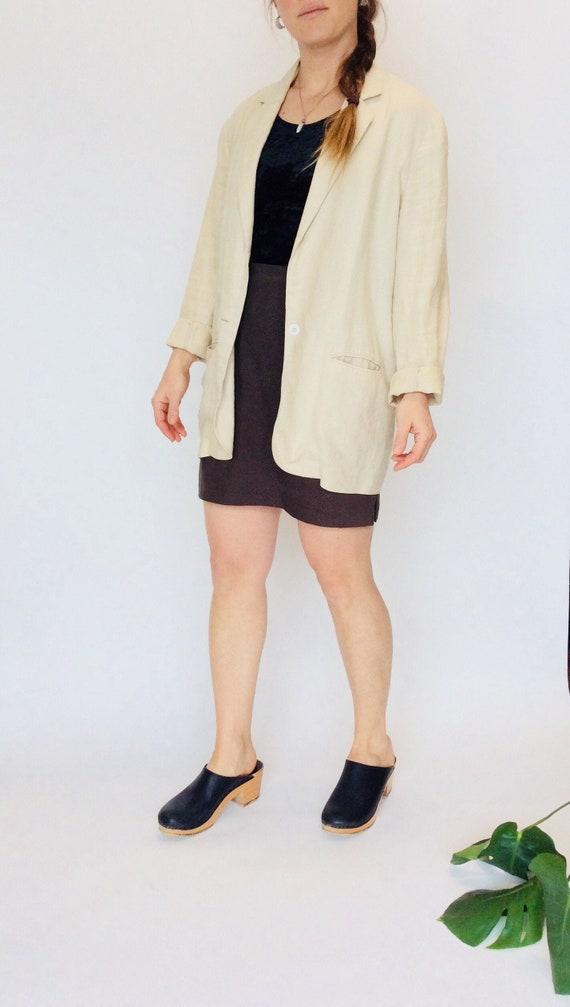 Vintage linen jacket vintage linen duster jacket o