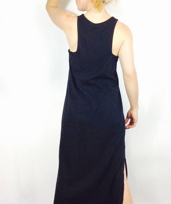 Black Maxi Dress Racerback Dress Long Black Dress Black Sack Etsy