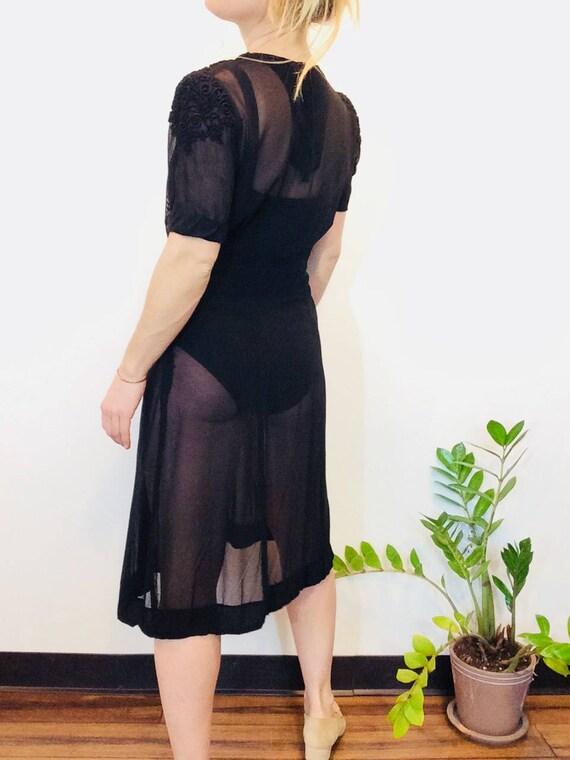 30s Black dress vintage 30s dress vintage black s… - image 10