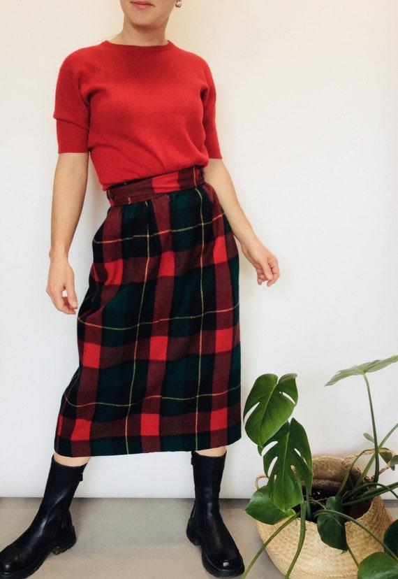 Vintage Ralph Lauren skirt plaid wool skirt Ralph