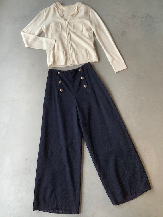 Vintage sailor pants wool bellbottoms Vintage high