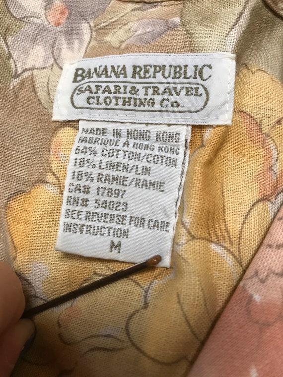 Vintage linen shirt vintage floral linen shirt bo… - image 6