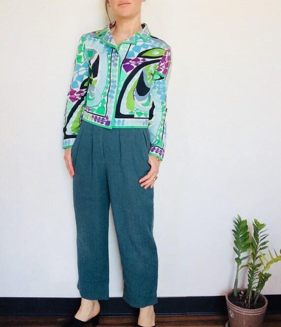Vintage Emilio Pucci jacket Pucci Cropped jacket … - image 8