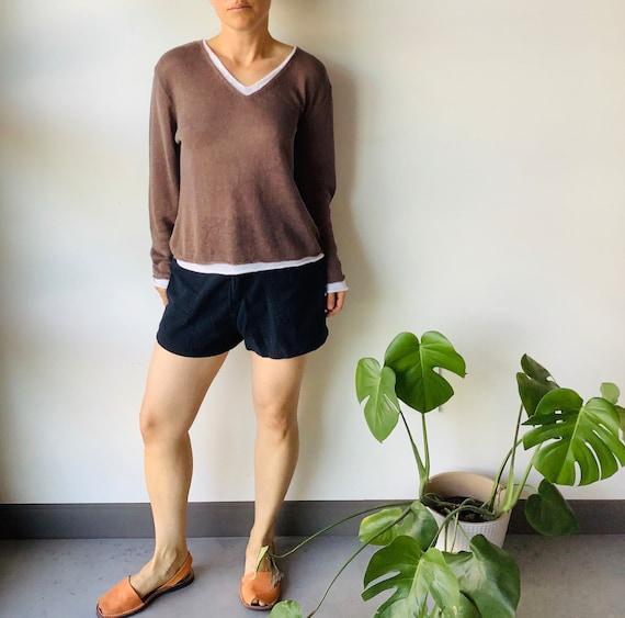 Vintage linen sweater linen top linen shirt boxy … - image 3