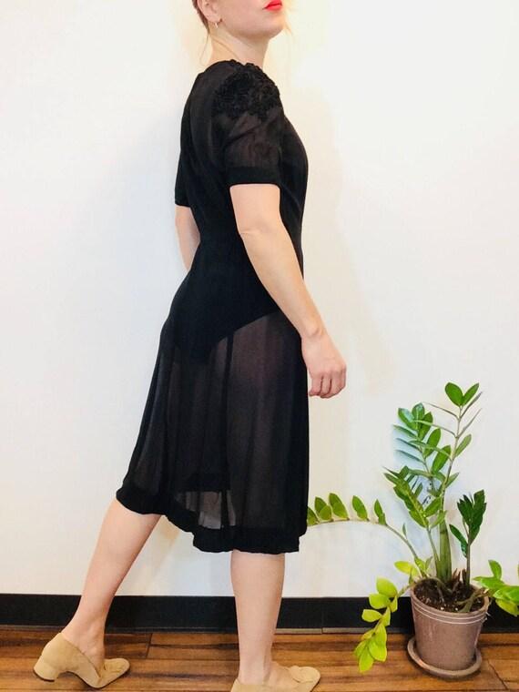 30s Black dress vintage 30s dress vintage black s… - image 9