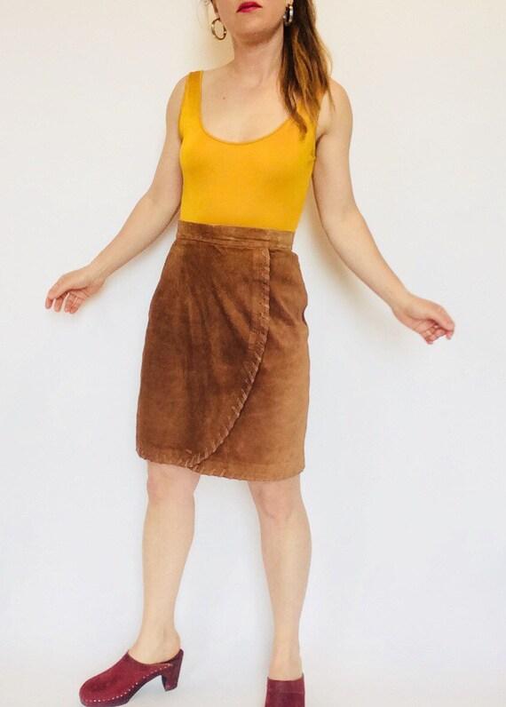 Vintage suede skirt suede mini skirt suede short s